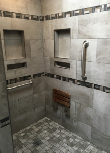 Shower remodel construction