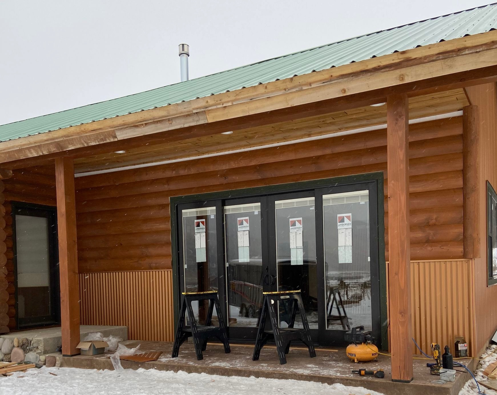 Construction contractor remodel remodeling cabin Montana Butte